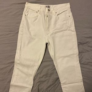 Agolde white high-waisted jeans